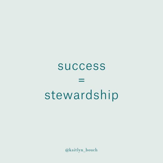 success is about stewardship